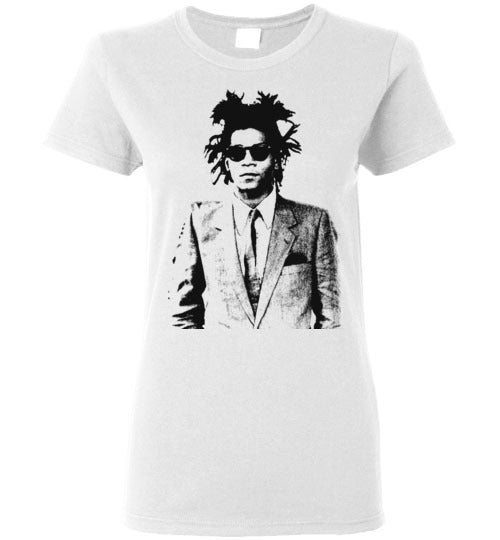 Basquiat Streetart,v25,Ladies Tee