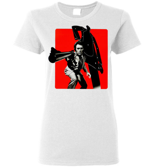 Dirty Harry, Clint Eastwood,Magnum Force,cult classic,movie,v1,Gildan Ladies Shirt