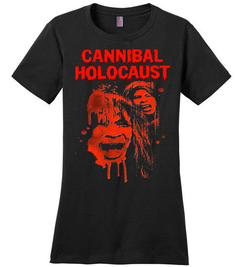 Cannibal Holocaust Ruggero Deodato Horror Zombies Movie, v1, District Made Ladies Perfect Weight Tee