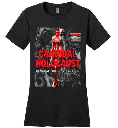 Cannibal Holocaust Ruggero Deodato Horror Zombies Movie, v4, District Made Ladies Perfect Weight Tee