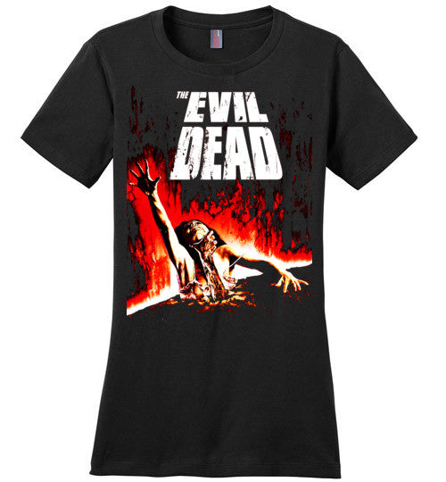 Evil Dead Army Of Darkness Horror Zombies Movie ,v2, District Made Ladies Perfect Weight Tee