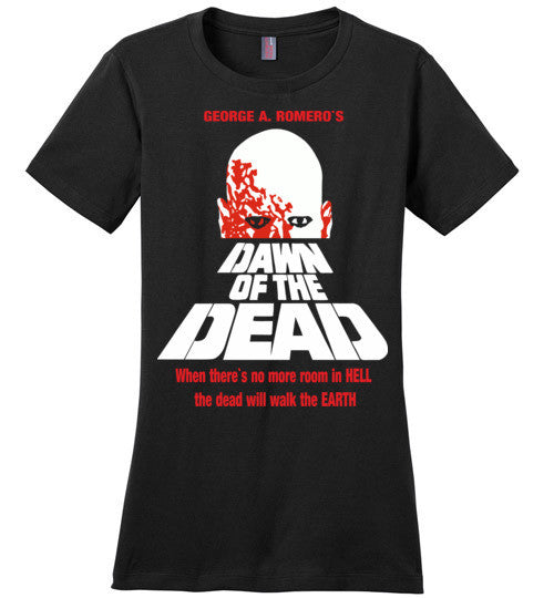 Dawn of the Dead vintage retro classic horror movie zombie , District Made Ladies Perfect Weight Tee