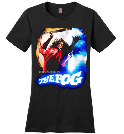 The Fog Horror Movie John Carpenter Vintage Rare 1980 Cult Film, zombie movie,Jamie Lee Curtis,v1 , District Made Ladies Perfect Weight Tee