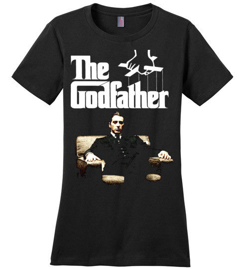 The Godfather Michael Corleone Mafia Al Pacino v3a , District Made Ladies Perfect Weight Tee