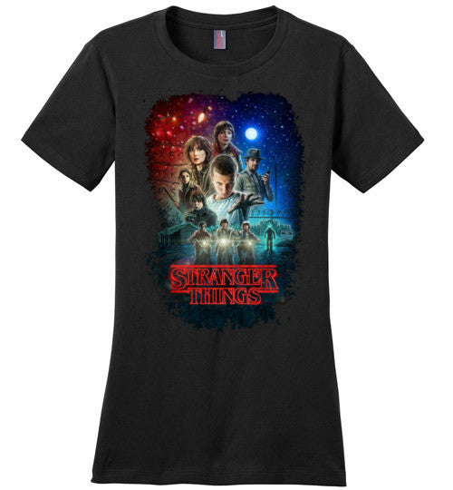 Stranger Things Tv Show/Sci Fi/ Netflix Series , v7, District Made Ladies Perfect Weight Tee