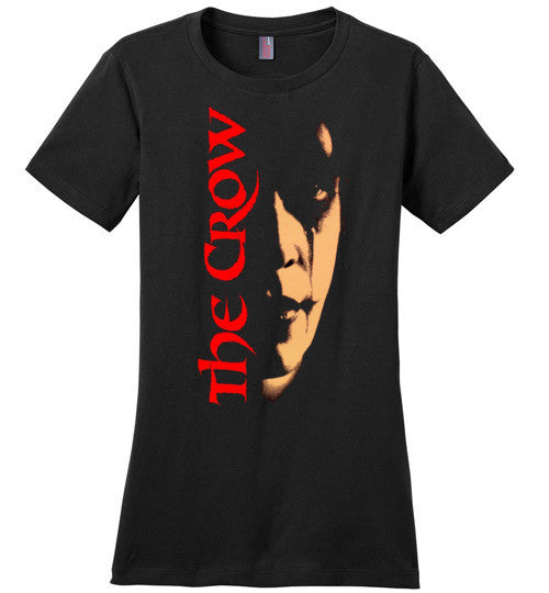 The Crow Cult Movie 90's Dark Fantasy Film v1 , District Made Ladies Perfect Weight Tee