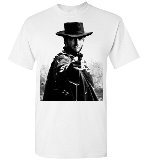 A Fistful of Dollars,Clint Eastwood,Sergio Leone, Spaghetti Western,The Good, the Bad and the Ugly,The Man with No Name,Ennio Morricone,v2,Gildan Short-Sleeve T-Shirt