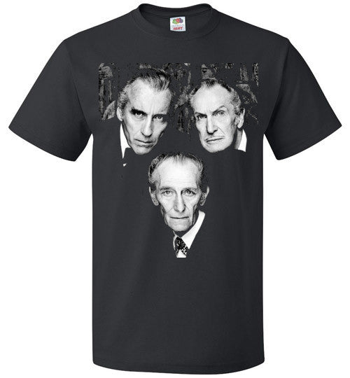 Christopher Lee Vincent Price and Peter Cushing Dracula Vampire Cult Movie Horror Classic , FOL Classic Unisex T-Shirt