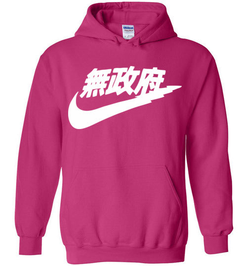 Japanese Sports Logo,Gildan Heavy Blend Hoodie Pink