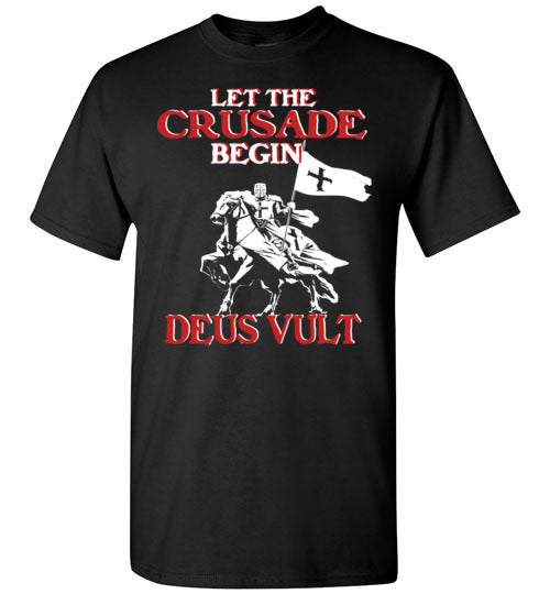 Knights Templar Let The Crusade Begin Deus Vult,v20,T-Shirt