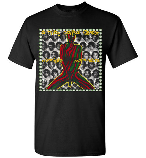 ATCQ A Tribe called Quest Classic Hip Hop New York City Midnight Marauders 1993 Phife Dawg Q-tip ,v5, Gildan Short-Sleeve T-Shirt