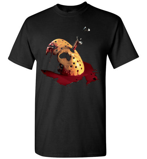 Friday the 13th Horror Shocker Splatter Jason Voorhees v5 , Gildan Short-Sleeve T-Shirt