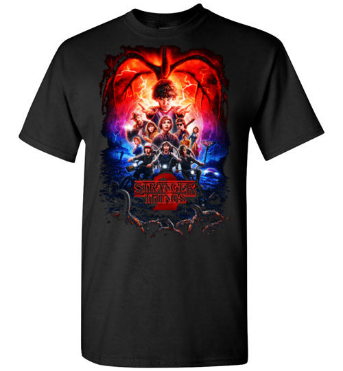 Stranger Things, Tv Show/Sci Fi/ Netflix Series ,v12, Gildan Short-Sleeve T-Shirt