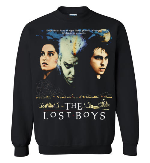 The Lost Boys vintage horror movie Vampires Gildan Crewneck Youth Kids Sweatshirt S - 5XL Black v3