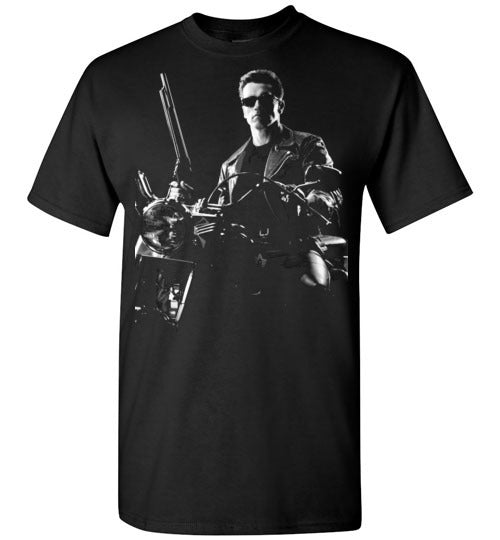 The Terminator, science-fiction action film, Arnold Schwarzenegger,cult classic,movie,v2,Gildan Short-Sleeve T-Shirt