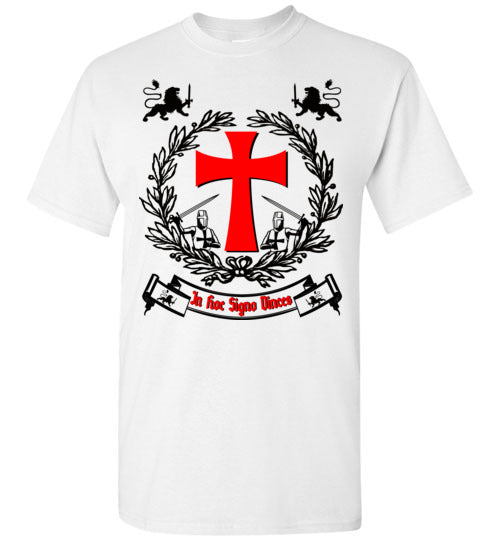 Knights Templar Crest In Hoc Signo Vinces,v23,T-Shirt
