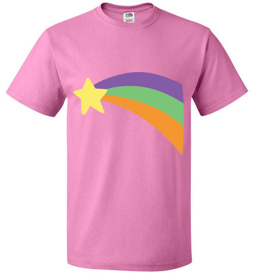 Mabel Pines Shooting Star Rainbow shirt Gravity Falls Cosplay Mystery Shack Youth / Kids Tee