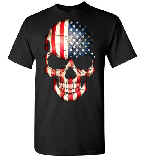 American Skull Flag USA 4th Of July independence day v1, Gildan Short-Sleeve T-Shirt