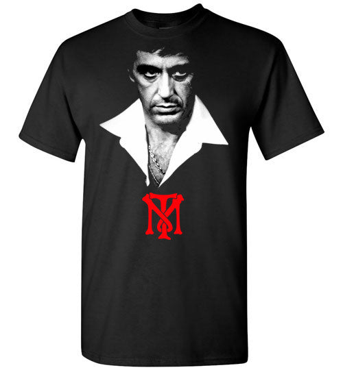 Tony Montana Scarface Al Pacino Gangster Movie 80's ,v2, Gildan Short-Sleeve T-Shirt