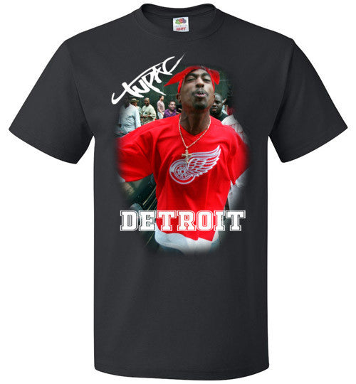 Tupac 2pac Shakur Makaveli Supporting Detroit Red Wings v15, FOL Classic Unisex T-Shirt