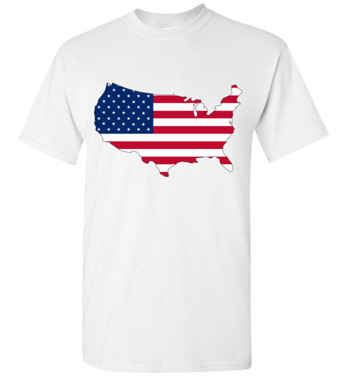 USA Flag 4th Of July Independence Day America Vintage American Flag v3 , Gildan Short-Sleeve T-Shirt