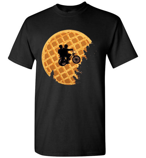 Stranger Things Moon Waffle , Gildan Short-Sleeve T-Shirt