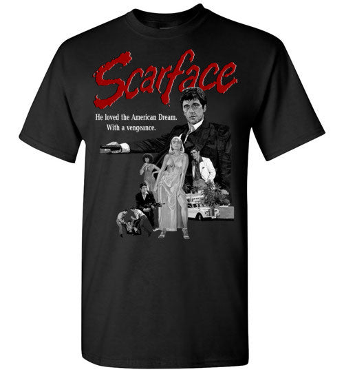 Tony Montana Scarface Al Pacino Gangster Movie  v6 , Gildan Short-Sleeve T-Shirt