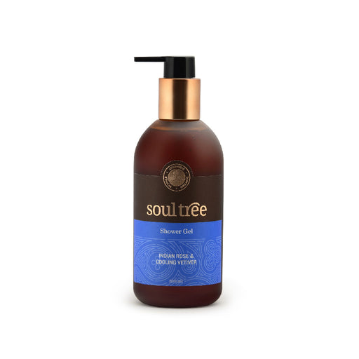 SoulTree Indian Rose Cooling Vetiver Shower Gel