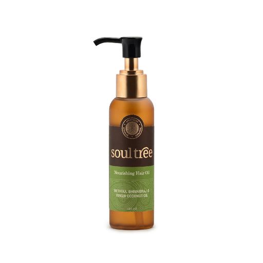 SoulTree Nourishing Hair Oil with Methika, Bhringraj and Virgin Coconut