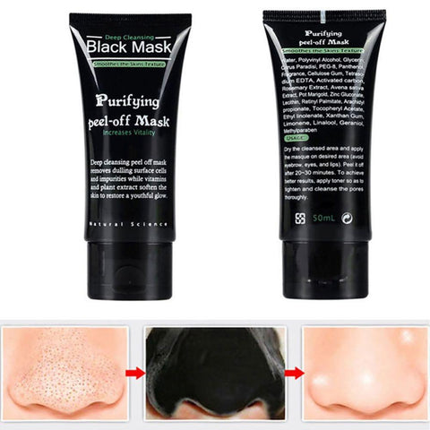 Deep Cleansing Peel Off Blackhead Removing Black Facial Mask - Snazzycollection.com