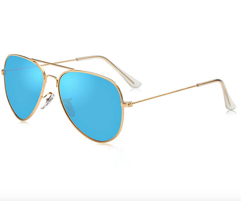 Polarized Various Color Mirrored Aviator Sunglasses - Snazzycollection.com
