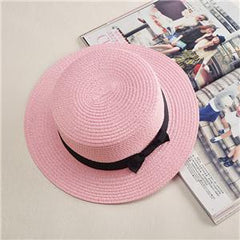 Lady Boater Panama Straw Fedora Summer Hat