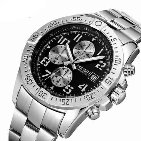 MEGIR Men's Chronograph Military Luxury Watch