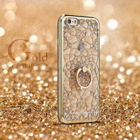 Phone Accessories - Glitter,Gold & Diamonds IPhone Case For I Phones: 5S, 6S, 6S Plus 8, 7plus