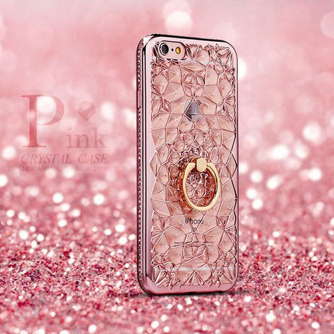 Glitter,Gold & Diamonds iPhone Case for I phones: 5S, 6S, 6S plus 8, 7plus - Snazzycollection.com