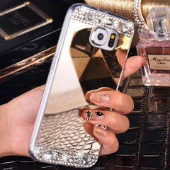 Phone Accessories - Mirrored Bling Phone Case: Samsung Galaxy S8 Plus S6 S7 Edge S5 A3 A5 A7 2017 J1 J2 J3 J5 J7 2016