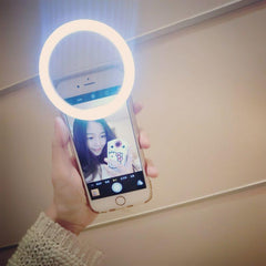 Phone Accessories - Smart Phone Light Up Selfie Phone Ring For IPhone SE 7 6S Plus Samsung S7 S6 Edge HTC LG HTC