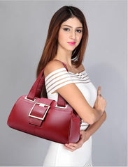 Luxury Genuine Leather Boston Shoulder Handbag