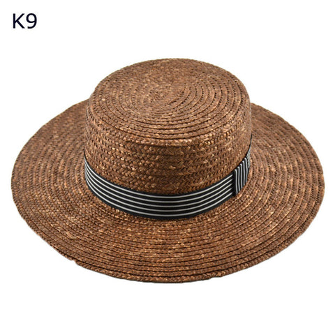 Sexy Brown Wide Brim Straw Hat
