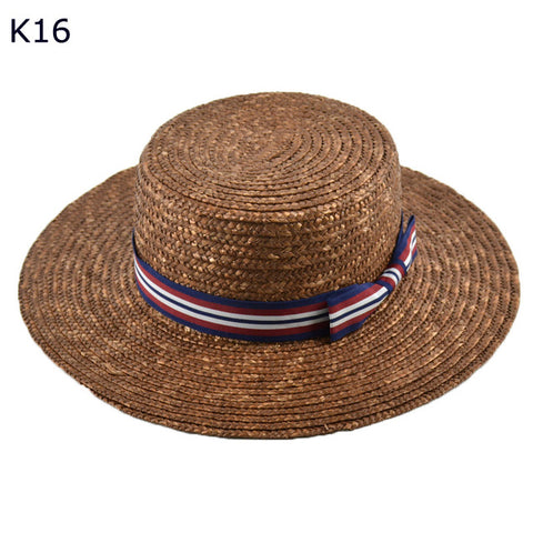 Image of Sexy Brown Wide Brim Straw Hat