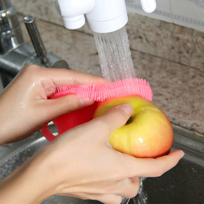 3Pc Silicone Dish Washing Sponges for Kitchen/Bath - Snazzycollection.com