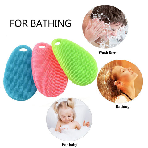 3Pc Silicone Dish Washing Sponges for Kitchen/Bath