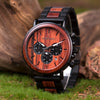 Men's Wooden Chronograph Military Two Toned Watch