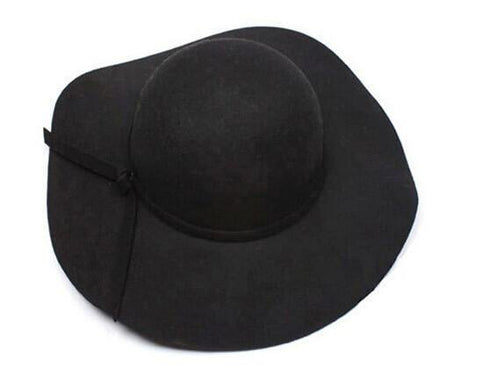 Soft Wool Blend Wide Brim Floppy Fedora - Snazzycollection.com