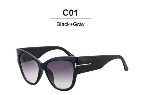 Sunglasses - CandisGY Oversized Pink Mirror Cateye  Lady's Sunglasses