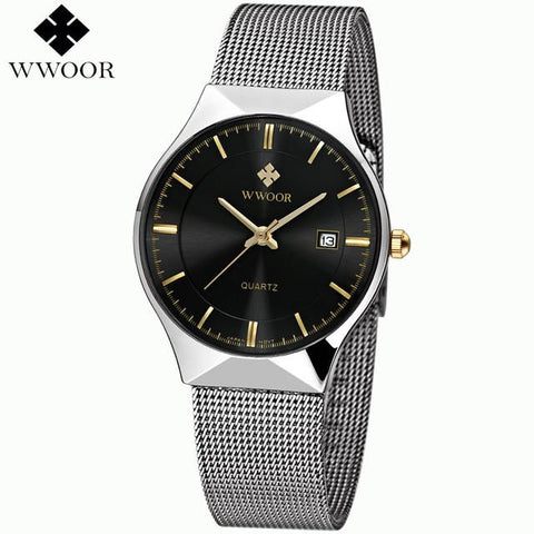 Ultra Thin Luxury Stainless Steel Wristwatch - Snazzycollection.com