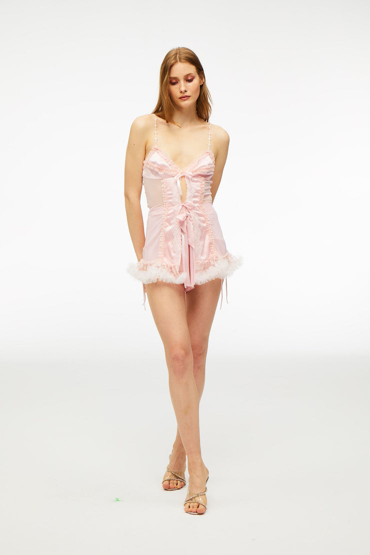 Angel 's Dream Lace Dress Baby Pink - Nana Jacqueline