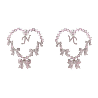 Limited Edition NJ Love Earrings in Pink - Nana Jacqueline