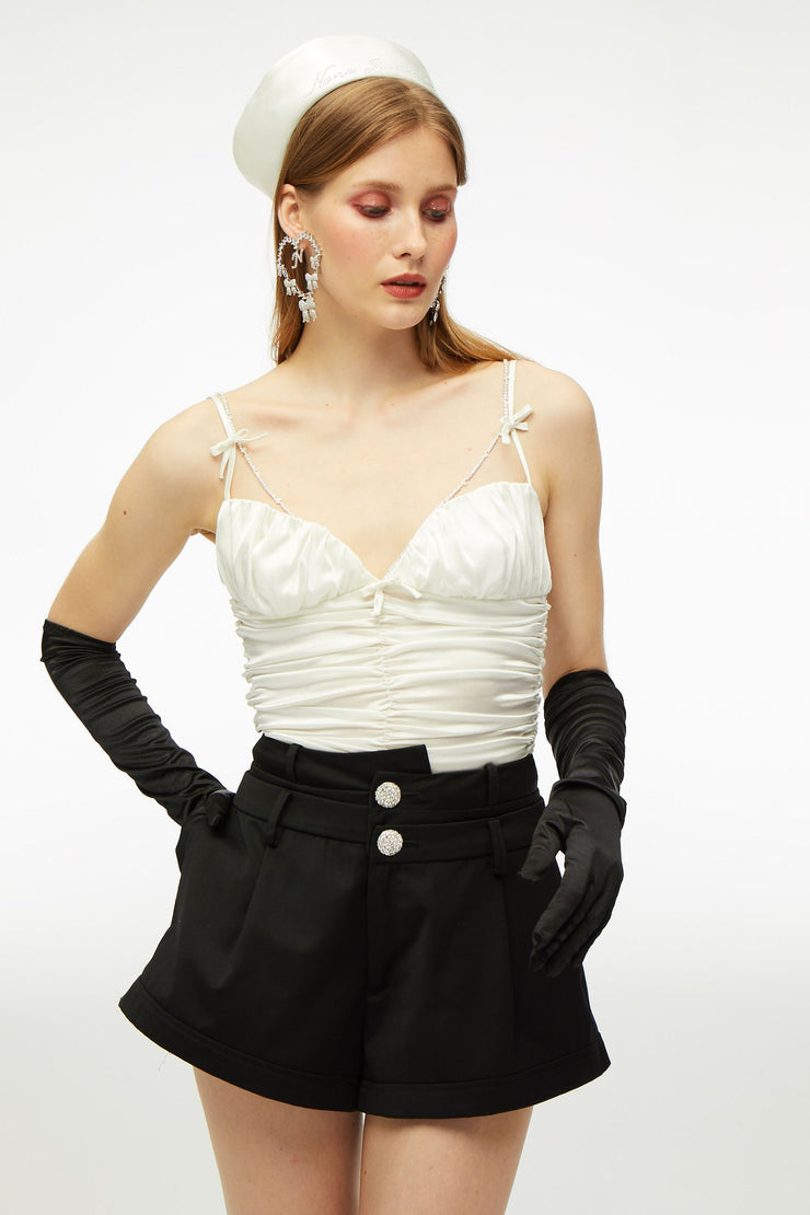 White Bow Top - Nana Jacqueline