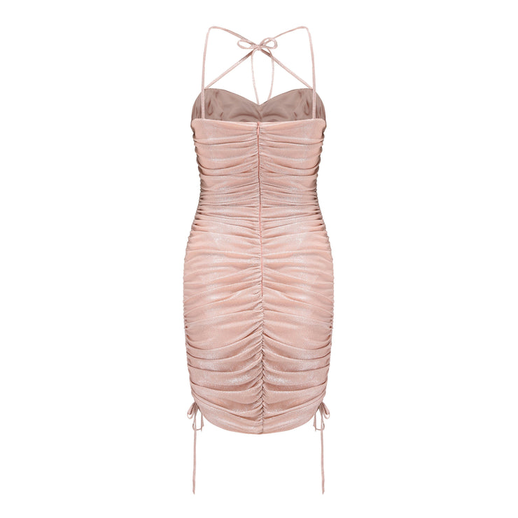 Pink Jelena Cross Tie Dress - Nana Jacqueline